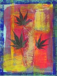 Art: Bright Leaf 2 by Artist Christine Wasankari