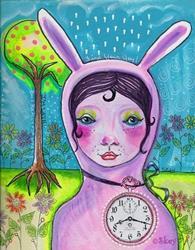 Art: I'm Late by Artist Sherry Key