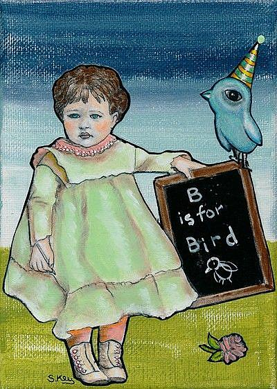 Art: B Is For Bird-Sold by Artist Sherry Key