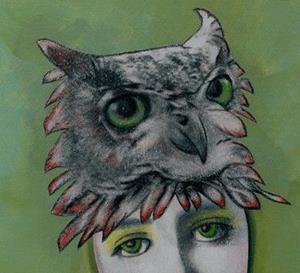Detail Image for art Owl Spirit Animal Guide-Sold