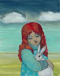 Art: The Bunny Rescue by Artist Sherry Key