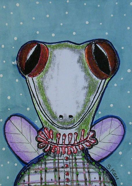 Art: Lizard Interrupted-Sold by Artist Sherry Key