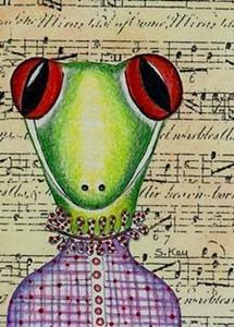 Detail Image for art Toad Baby-Hitting High C-Sold