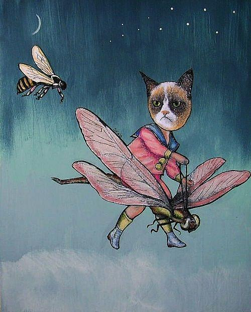 Art: The Pursuit of Grumpy Cat by Artist Sherry Key