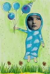 Art: She Dreamed She Was Floating by Artist Sherry Key