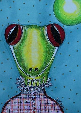 Art: Victorian Gecko by Artist Sherry Key