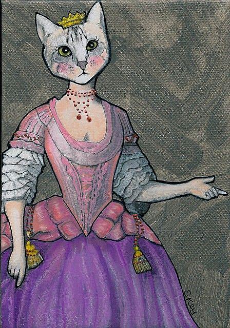 Art: Her Meow-jesty by Artist Sherry Key