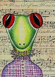 Art:  Lizzy Victorian Music Teacher Sold by Artist Sherry Key