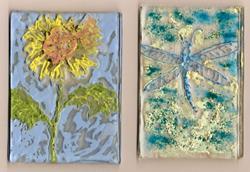 Art: Garden ATCs by Artist Deborah Sprague