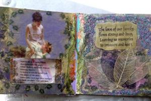 Detail Image for art Mother and Altered book of Love