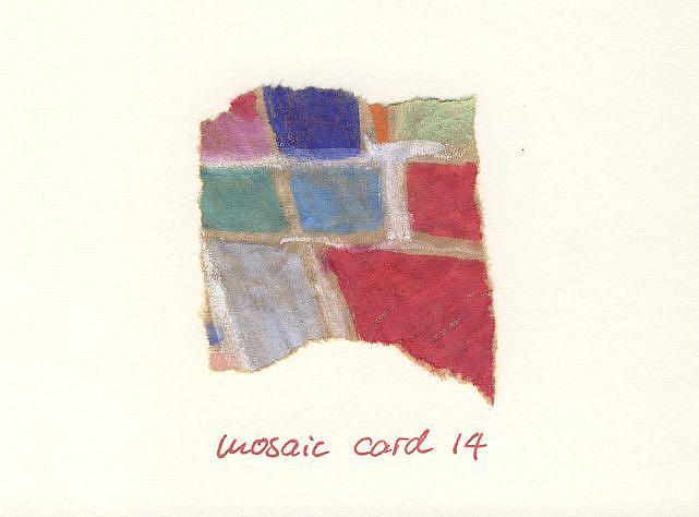 Art: MOSAIC CARD....14 by Artist Gabriele Maurus