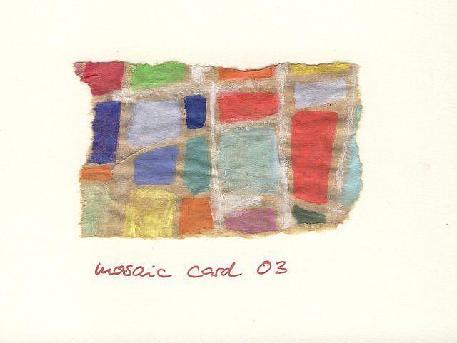 Art: MOSAIC CARD 03 by Artist Gabriele Maurus