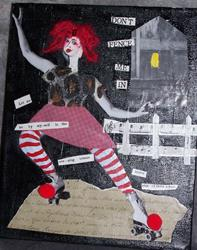 Art: Dont Fence Me In original by Artist Nancy Denommee