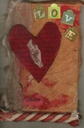 Art: Infinite Love original collage by Artist Nancy Denommee