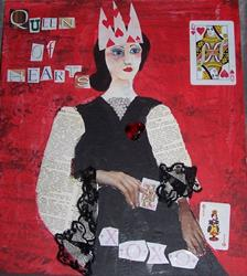 Art: Queen of Hearts by Artist Nancy Denommee