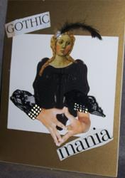 Art: Gothic Mania Ink Blot Collage by Artist Nancy Denommee