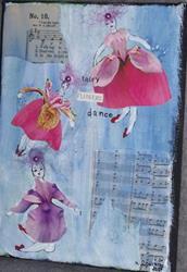 Art: Fairy Flowers Dance by Artist Nancy Denommee