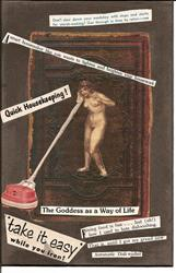Art: House Goddess original collage by Artist Nancy Denommee