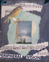 Art: Peripheral Vision original collage by Artist Nancy Denommee