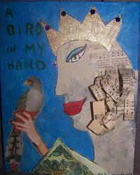 Art: A Bird In My Hand SOLD by Artist Nancy Denommee