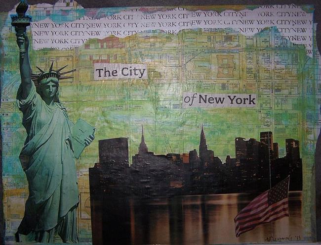Art: The City of New York by Artist Nancy Denommee