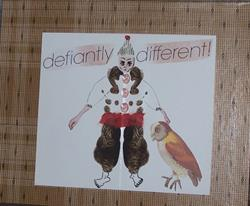 Art: Defiantly Different original collage by Artist Nancy Denommee