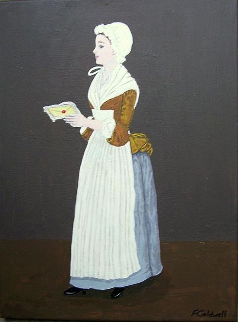 Art: The Letter (Sold) by Artist Fran Caldwell