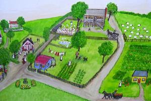 Detail Image for art Village Life (Sold)