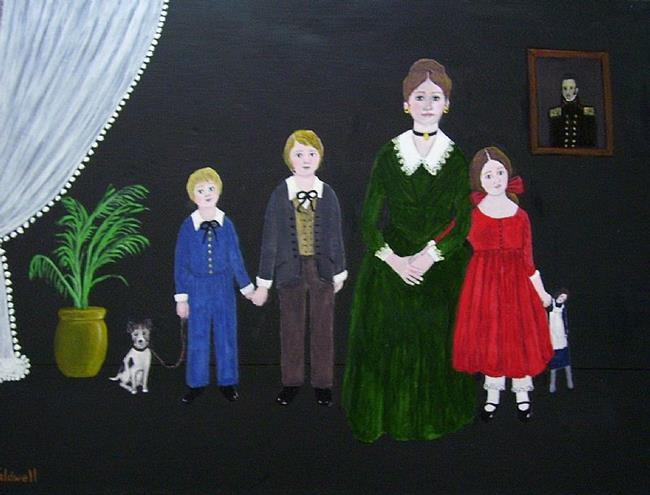 Art: The Captain's Family (Sold) by Artist Fran Caldwell