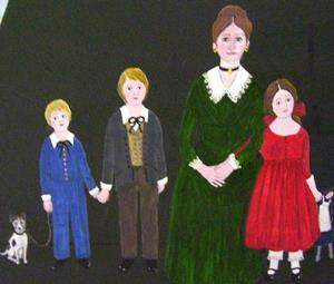 Detail Image for art The Captain's Family (Sold)
