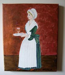 Art: Afternoon Tea for Madam by Artist Fran Caldwell