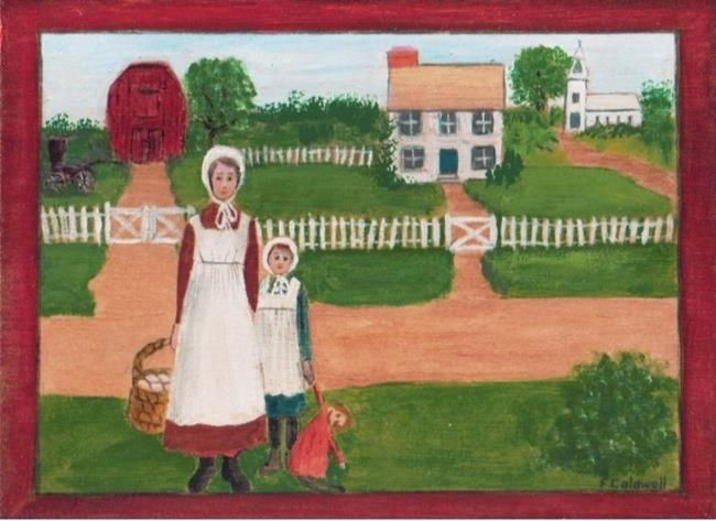 Art: Delivering the Eggs (SOLD) by Artist Fran Caldwell