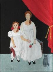 Art: Sisters (SOLD) by Artist Fran Caldwell