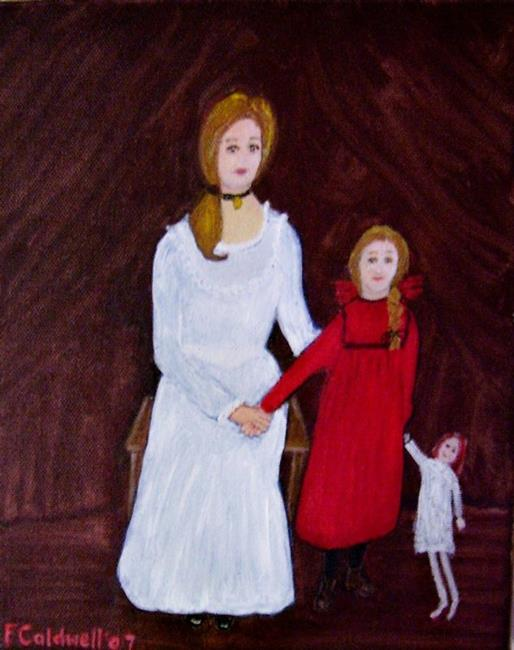Art: Colonial Girls by Artist Fran Caldwell