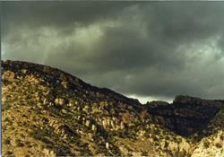 Art: Stormy Arizona Mountain Landscape by Artist Virginia Ann Zuelsdorf
