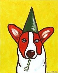 Art: Color and Motion: Lazarus Party Pup by Artist Jenny Doss