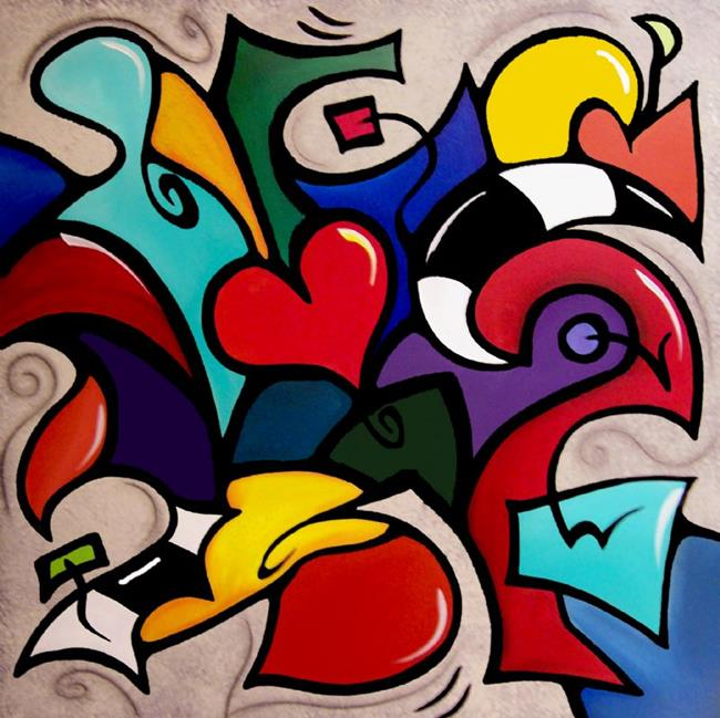 Art: Crazy In Love - Color 111 by Artist Thomas C. Fedro
