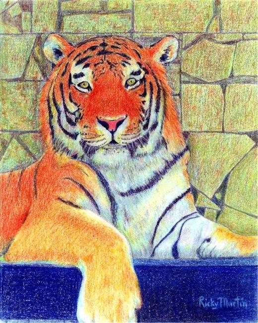 Art: Tiger by Artist Ulrike 'Ricky' Martin
