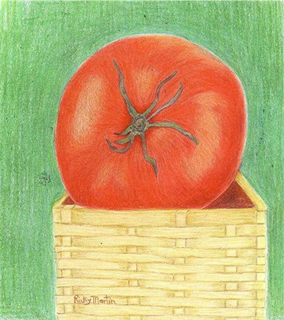 Art: Single Tomato by Artist Ulrike 'Ricky' Martin