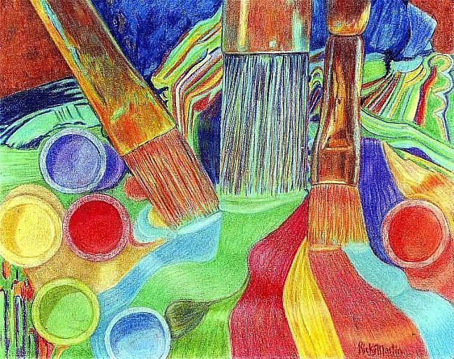 Art: Brushes and Paint - available in my etsy store by Artist Ulrike 'Ricky' Martin