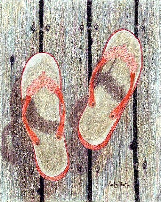 Art: Flip Flops - Left Behind by Artist Ulrike 'Ricky' Martin