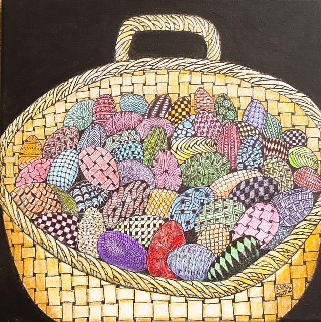 Art: Jelly Bean Basket by Artist Ulrike 'Ricky' Martin