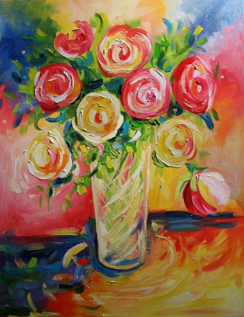 Art: Flowers for Justin's Mom by Artist Laurie Justus Pace
