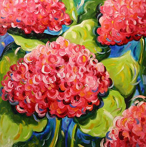 Art: Southern Hydrangea by Artist Laurie Justus Pace