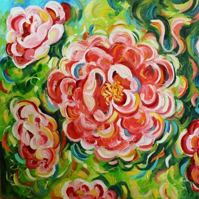 Art: Peonies Pink by Artist Laurie Justus Pace