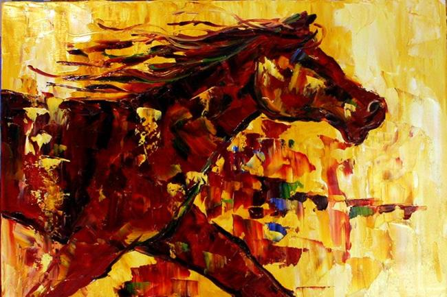 Art: Power of Bare Hoof Ranch by Artist Laurie Justus Pace