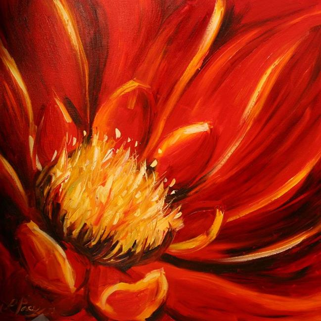 Art: Depth of Red for Danica by Artist Laurie Justus Pace