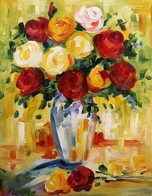 Art: Colleen's Roses by Artist Laurie Justus Pace