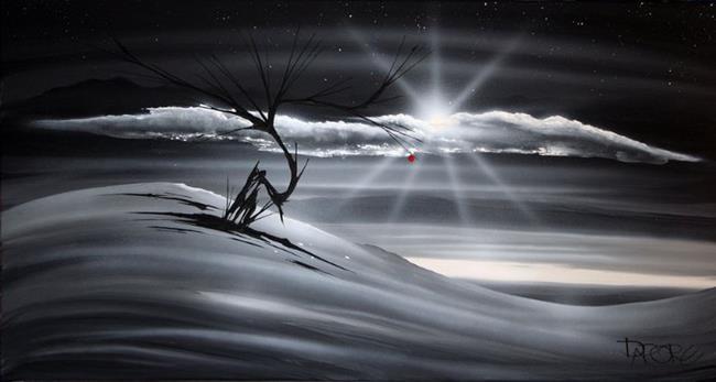 Art: landscape/b&w/last apple 312 by Artist Theo Dapore