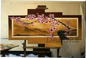 Detail Image for art Cherry blossom 1 four canvas painting